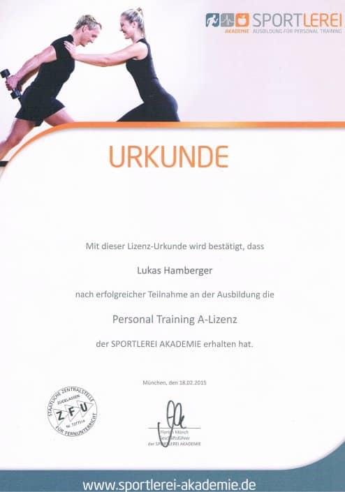 Personal Trainer Dresden Ausbildungen PT Lizenz